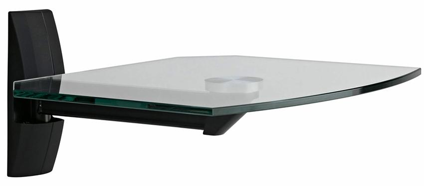 Полка для телевизора должна быть изготовлена из толстого и прочного стекла