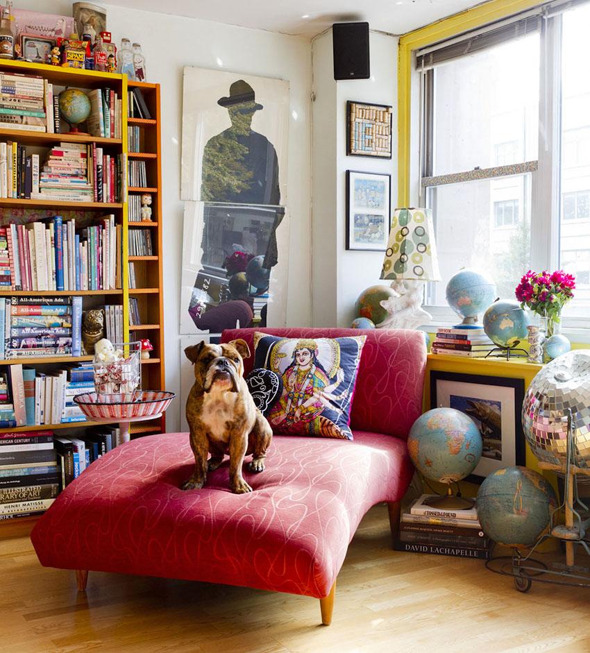 Для бохо стиля подходит необычная мебель, при этом она должна быть удобная