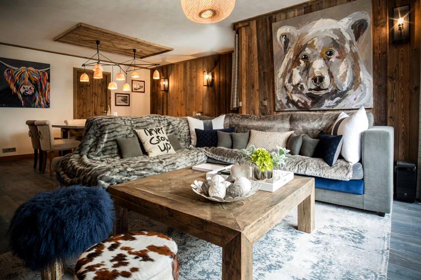 При желании стиль шале можно воссоздать не только в доме, но и квартире