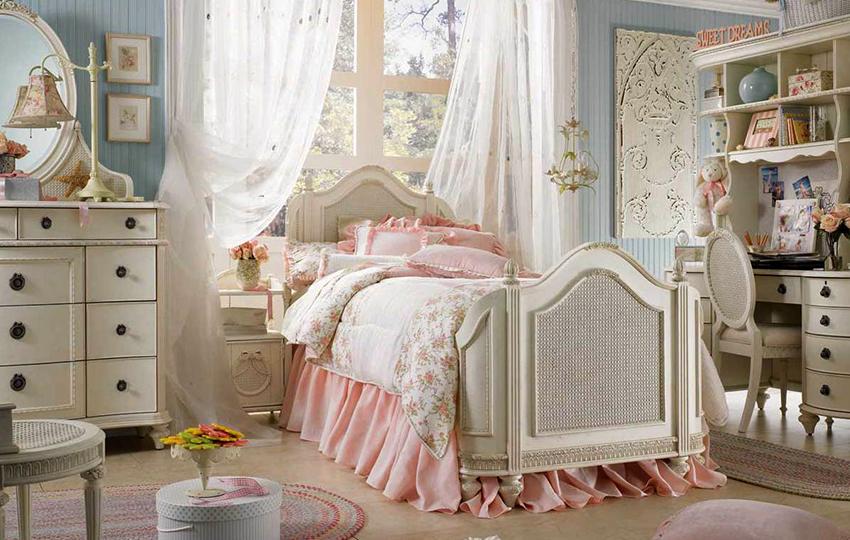Нежно-романтичный стиль шебби шик придется по вкусу маленьким принцессам