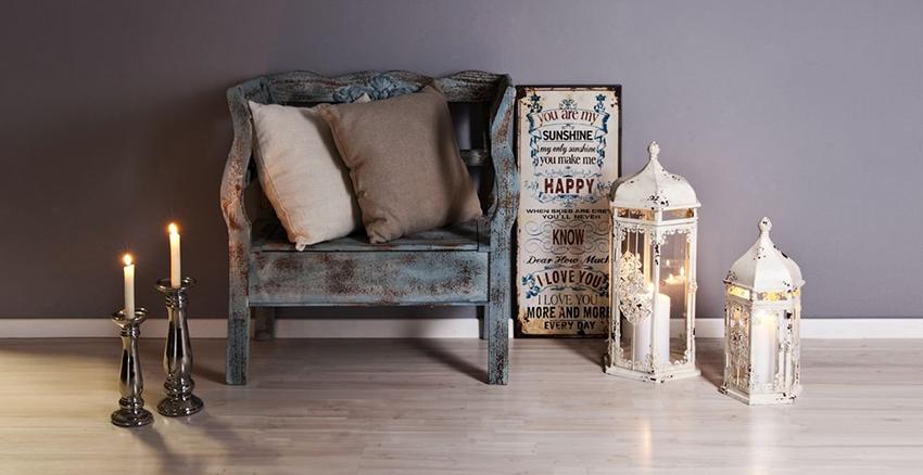 Мебель для интерьера в стиле шебби шик можно приобрести в антикварном магазине или на блошином рынке