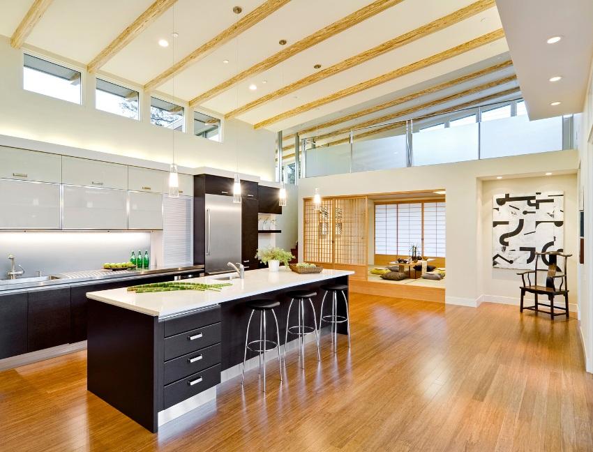 Дизайну интерьера в японском стиле присущи простые строгие формы, сдержанность, ощущение покоя, благородство и изящность