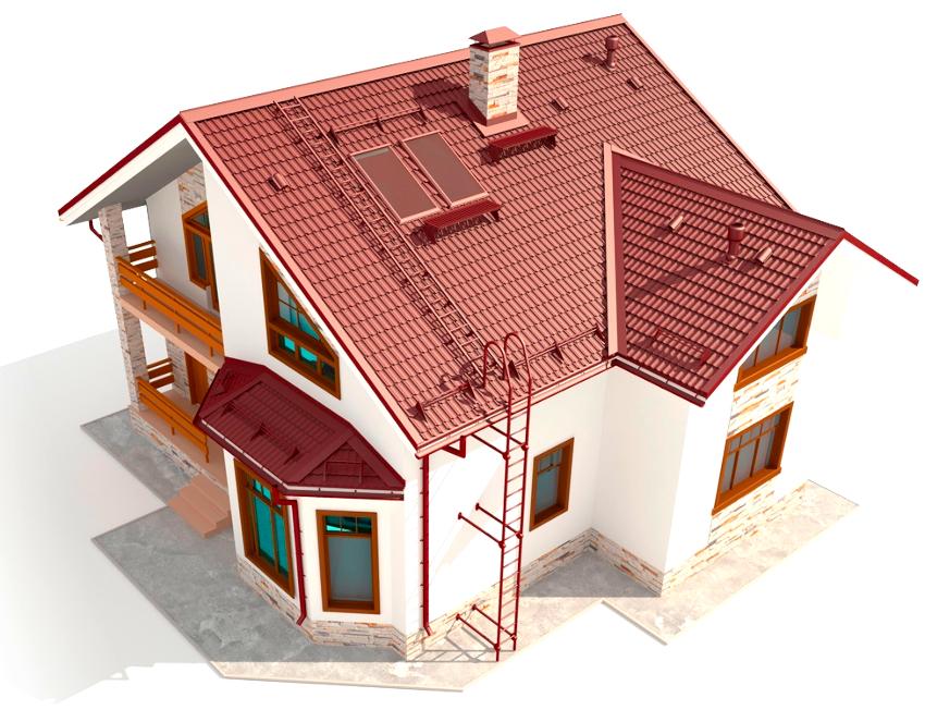 Сохранность покрытия крыши от деформации призваны обеспечить переходные мостики, лестницы и ограждения