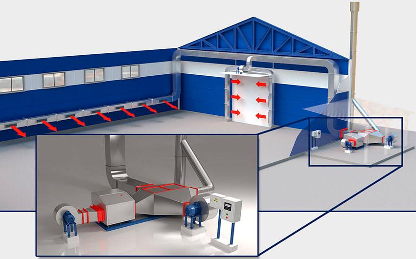 Проектируя систему отопления производственного помещения важно соблюдать противопожарные нормы
