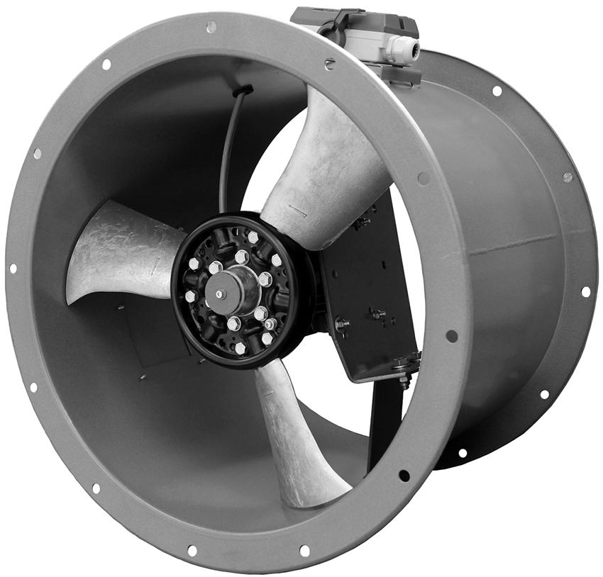 В системе воздушного отопления используются два вида вентиляторов – приточные и обратные