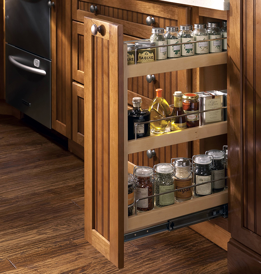 Выдвижные ящики для кухни карго могут содержать несколько уровней