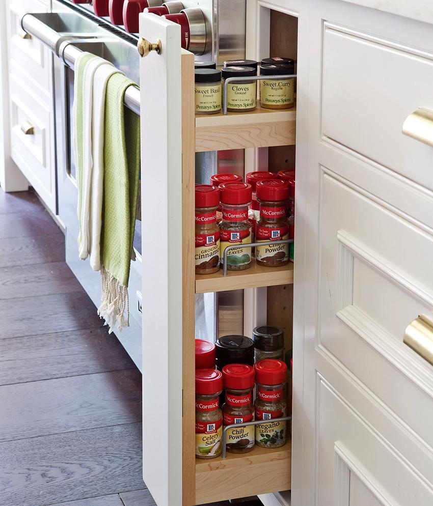 Благодаря рациональному использованию каждого сантиметра, карго являются оптимальным решением для кухни