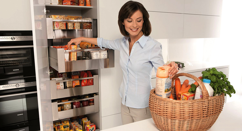 Выдвижные корзины для кухни: грамотное использование пространства