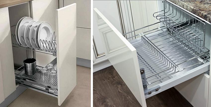 Выдвижные кухонные корзины должны быть изготовлены из качественных материалов