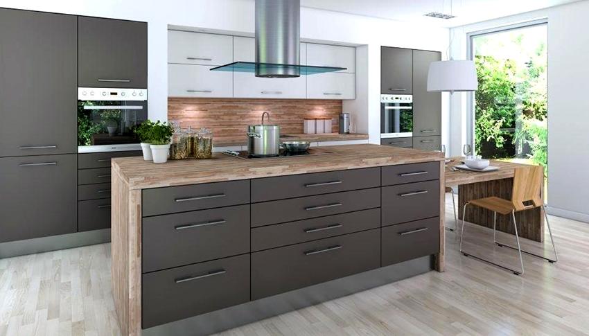 Серый отлично подходит для кухонь в стиле лофт, минимализм, хай-тек