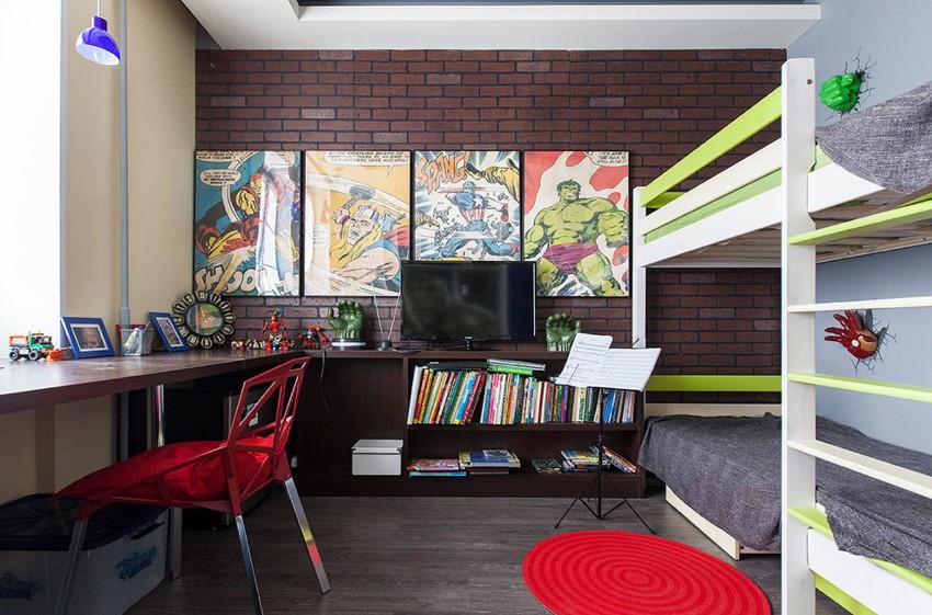 В помещении, где будут отдыхать, учиться, играть и заниматься творчеством сразу двое детей, приоритетом становится грамотное распределение пространства и умелое зонирование