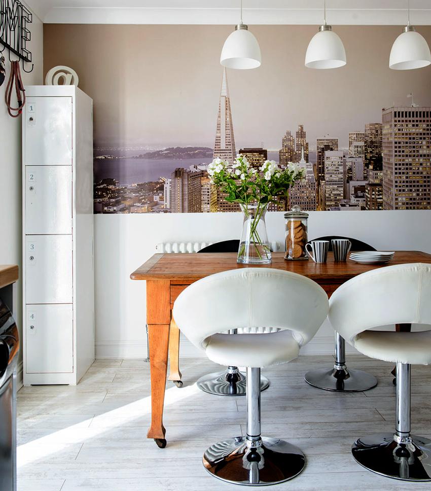 Фотообои на кухне сделают интерьер уникальным, стильным и оригинальным