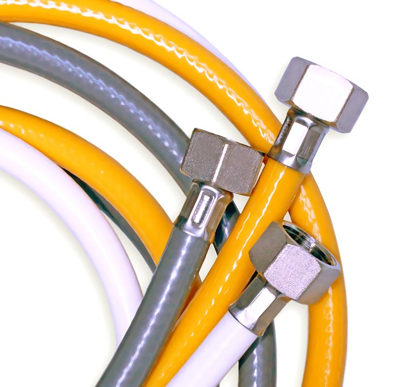 Газовый шланг ПВХ считается более современным, применяется для подводки различных типов газовой смеси