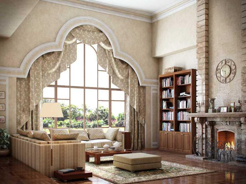 Стенки в гостиную в классическом стиле объединяют в себе изысканность и функциональность