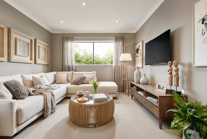 Стены принято окрашивать в белый цвет, но можно придать поверхностям легкий оттенок голубого, серого или розового