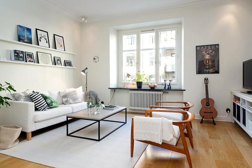 Для скандинавского интерьера свойственна светлая пастельная палитра оттенков