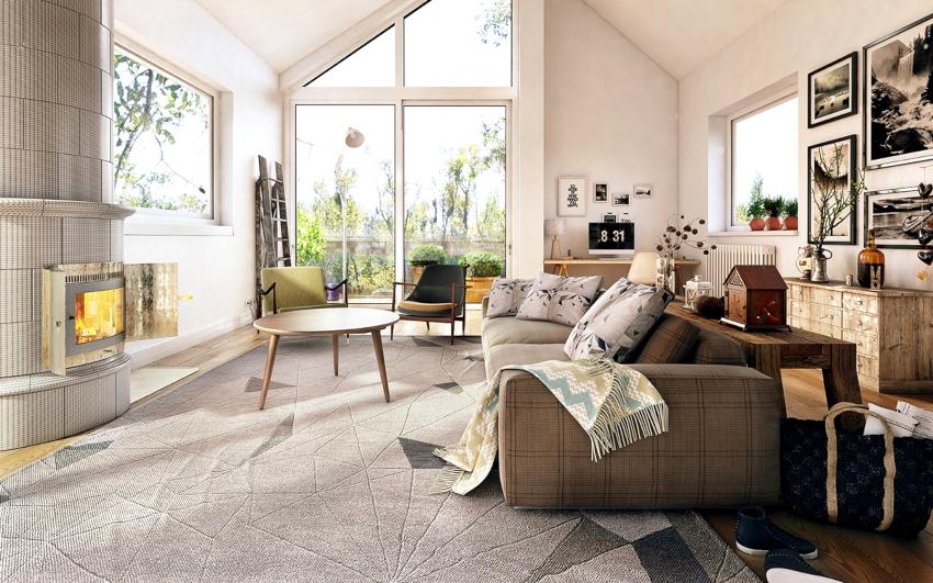 Все элементы мебели должны быть изготовлены из натурального дерева