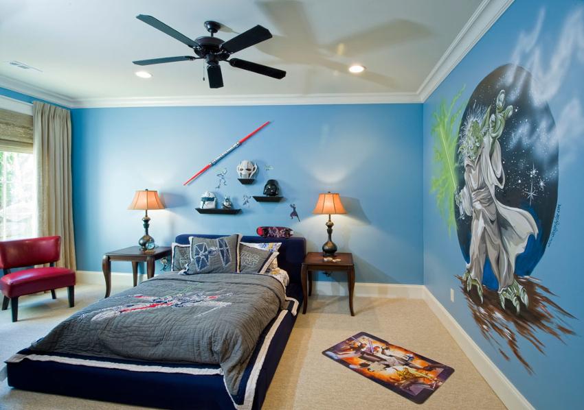 Мальчики-подростки – минималисты, поэтому в комнате достаточно минимального количества мебели