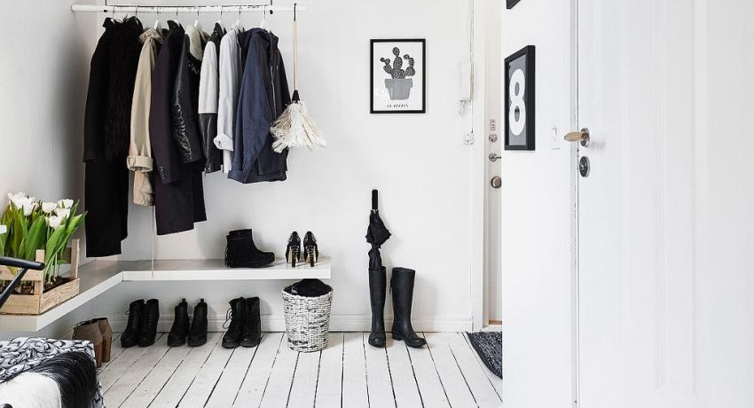 При выборе цвета стен для прихожей лучше начать с легких нейтральных оттенков