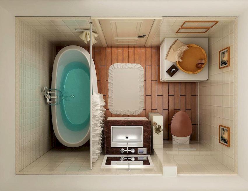 Проект ванной - это цветовое оформление, планировка систем хранения, особенности и месторасположение сантехники