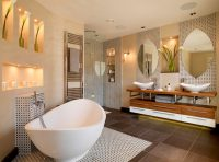 Обустройство ванной комнаты, как и других помещений, предполагает составление дизайнерского проекта