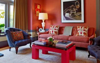 Красные обои в интерьере, энергетика цвета и принципы формирования контрастов