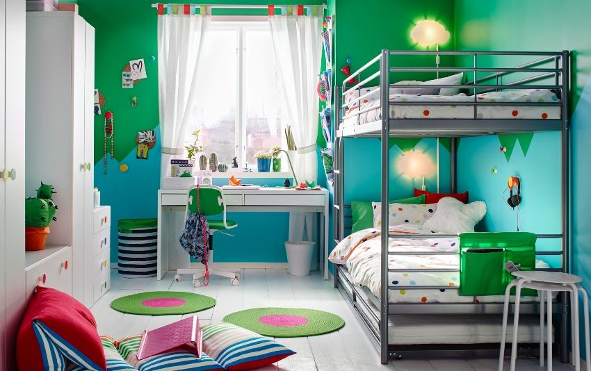 Функциональность мебели ИКЕА делает ее идеальным вариантом для оформления детской комнаты