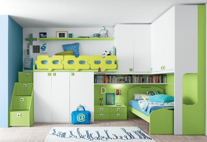 Детские спальные гарнитуры многофункциональны, помогают решат задачи размещения, хранения вещей и игрушек