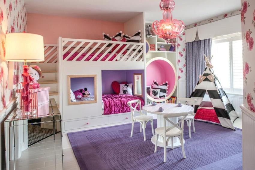 В комнате, где живут двое детей приблизительно одинакового возраста, нужно сделать пространство комфортным для каждого