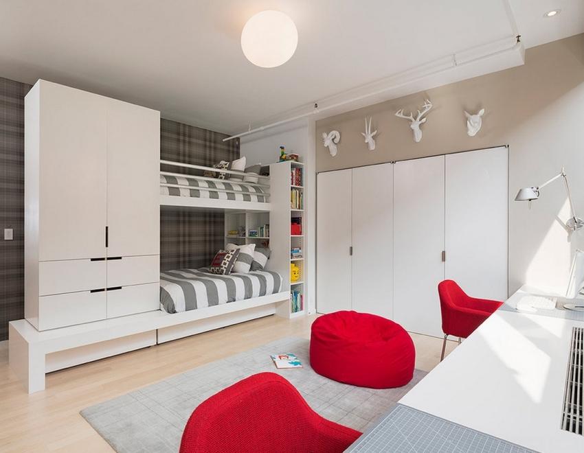 Двуспальные кровати для двоих детей – это хорошее решение для небольшой комнаты
