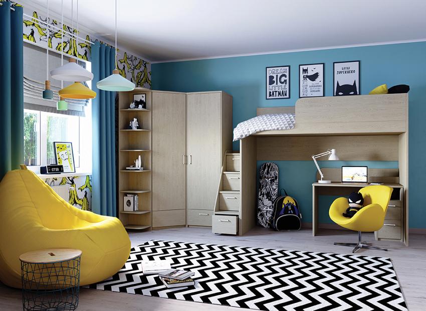 Чаще всего детскую обустраивают в небольшой комнате, поэтому стенка позволяет сэкономить пространство