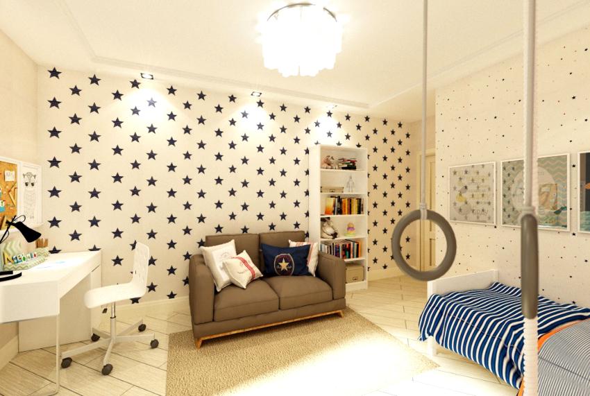 Мягкая обивка дивана в детской комнате для подростка должна хорошо чиститься, иначе мебель быстро утратит приятный внешний вид