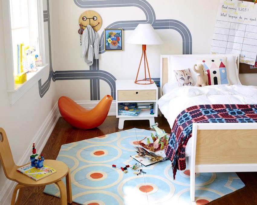 Одним из самых распространенных материалов для изготовления детской мебели является ДСП