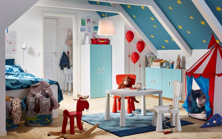 Также в качестве материала для детской мебели применяется пластик