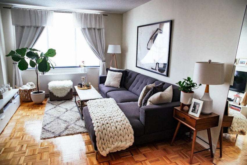 Мебель с обивкой различных оттенков серого цвета будет актуальна долгое время и гармонично впишется практически в любой интерьер
