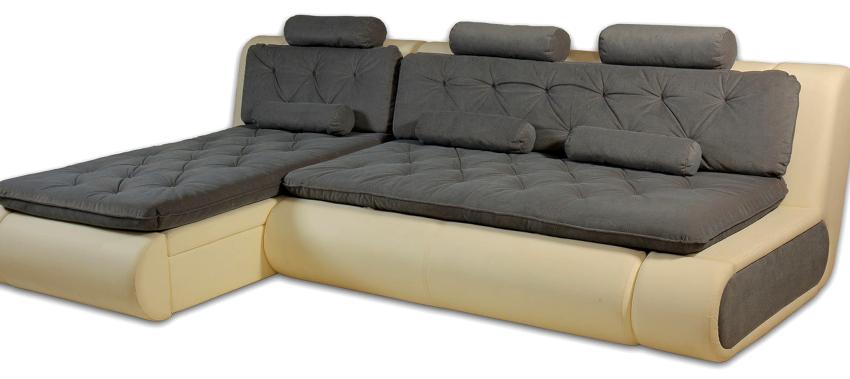 В сложенном состоянии диван «Пума» занимает минимум места, в отличие от других типов раскладных изделий