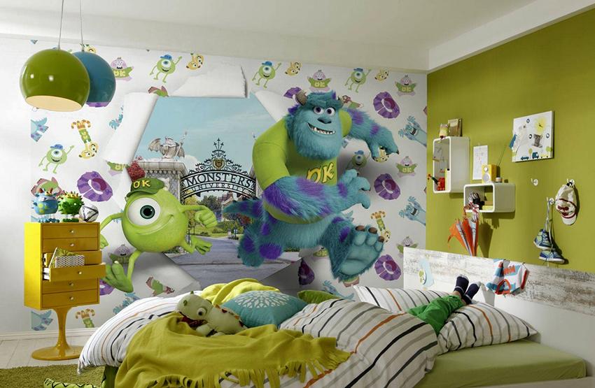 Фотообои должны сочетаться с общим интерьером комнаты мальчика