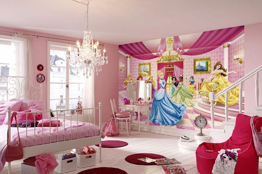 Маленьким девочкам понравятся фотообои со сказочными героинями и принцессами