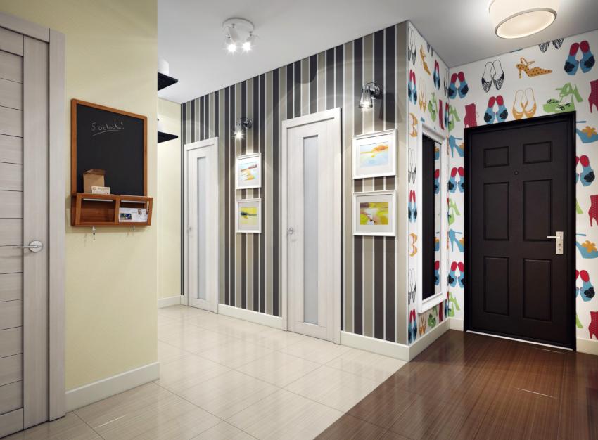 Флизелиновые обои можно начинать клеить от окна, от двери, с угла либо от центра самой длинной стены