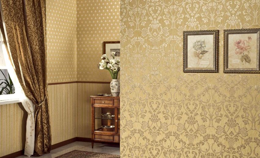 Хороший вариант для гостиной – шелкография, ее блестящая поверхность придаст комнате респектабельности