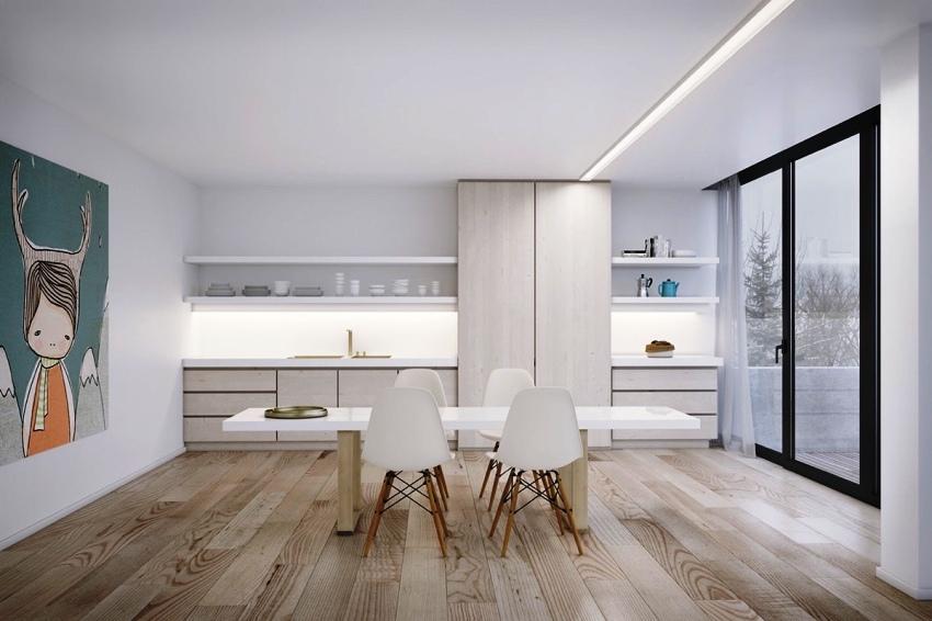 Деревянный пол, собранный из массивных досок, при правильном обслуживании может послужить в течение 100-150 лет