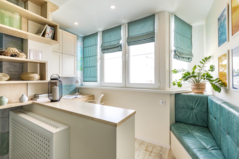 Благодаря своей легкости римские шторы не перегружают пространство, что особенно важно при организации дизайна небольшого помещения