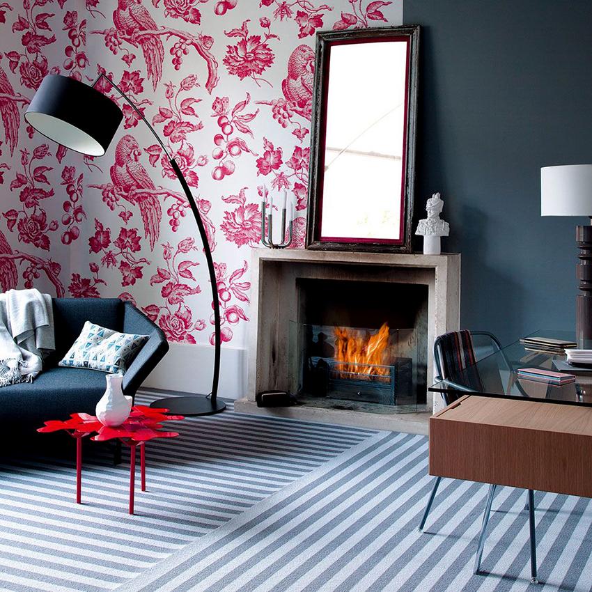 Розовый с серым – один из самых удачных тандемов в дизайне интерьеров