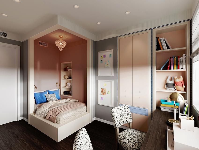Шкаф для детской девочки должен вписываться в дизайн и нравится своей хозяйке