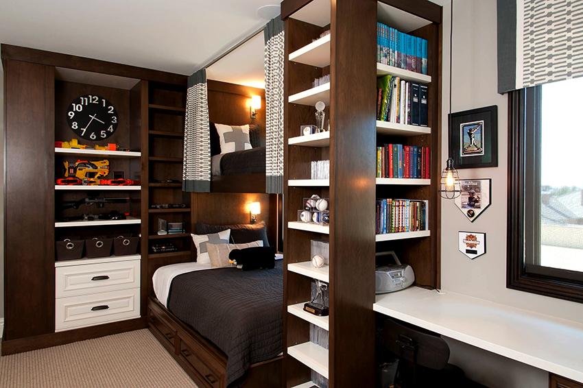 Шкаф для мальчика-подростка должен быть простой, удобный и лаконичный