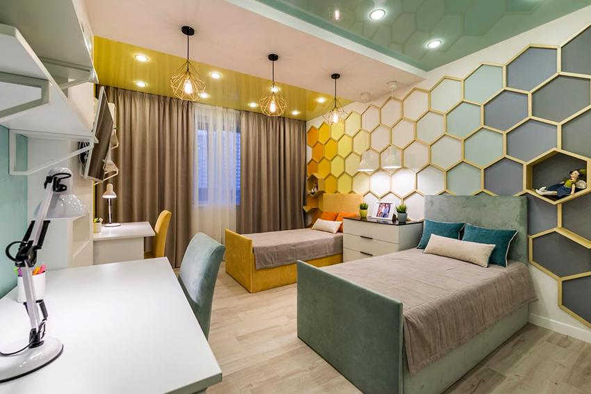 Необычный стеллаж станет функциональным украшением детской комнаты