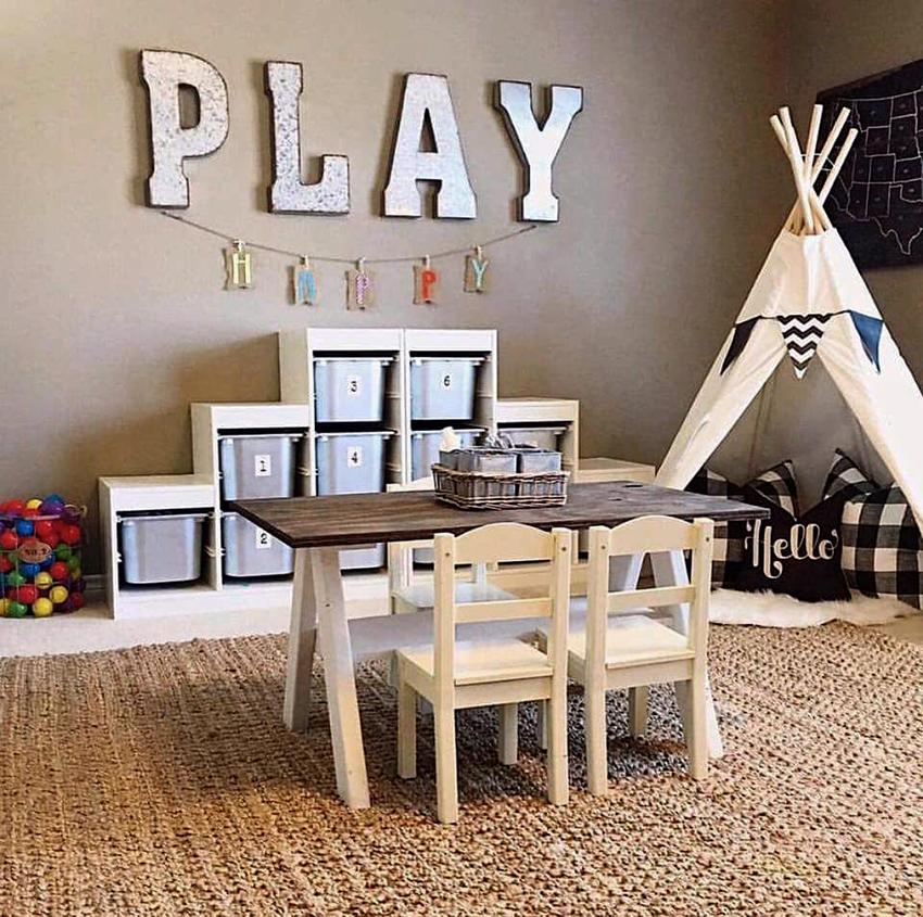 Шкаф для детских игрушек должен быть безопасным и удобным
