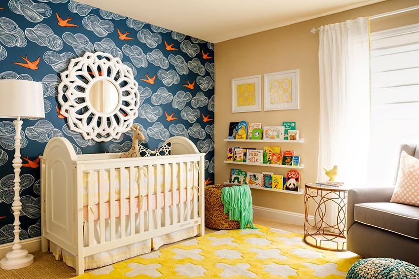 Занавески из хлопка или льна – оптимальный вариант для детской