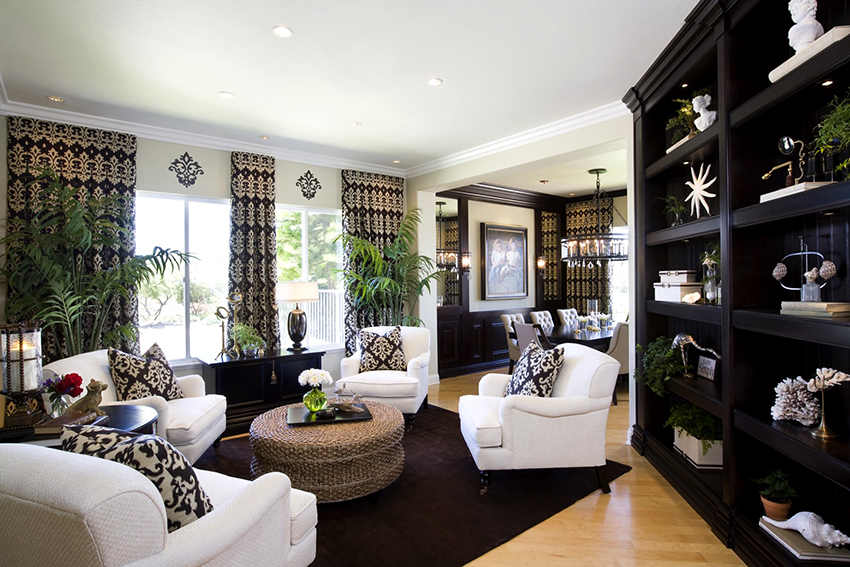 Как правило, классические шторы выполнены из натуральных тканей сдержанных цветов