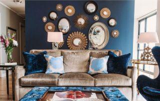 Синие обои: мрачный и холодный интерьер или благородный и уравновешенный дизайн?